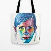 emma watson Tote Bags featuring Emma Watson by Stella Joy