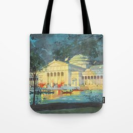 Lagoon at Night; Palace of Fine Arts in Chicago 1893 Tote Bag