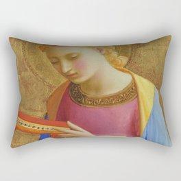 """Fra Angelico (Guido di Pietro) """"Virgin Annunciate"""" Rectangular Pillow"""