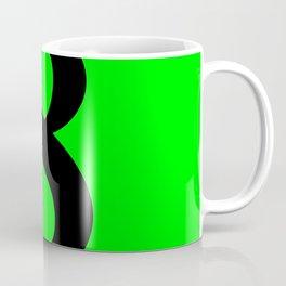 8 (BLACK & LIME NUMBERS) Coffee Mug