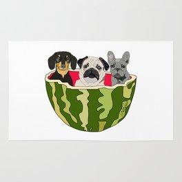 Watermelon Dogs Rug