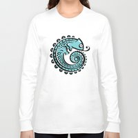chameleon Long Sleeve T-shirts featuring chameleon by Erdogan Ulker