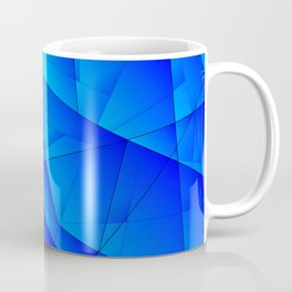 Bright sea pattern of heavenly and blue triangles and irregularly shaped lines. Coffee Mug