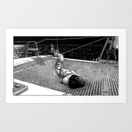 asc 684 - La route du large (The unbound) Art Print