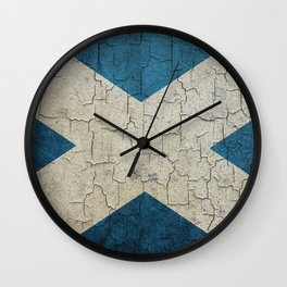 Vintage Scotland flag Wall Clock