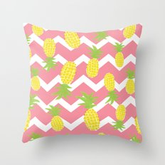 Pink Pineapple Pattern Throw Pillow