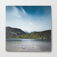 Lake Bohinj with Alps in Slovenia Metal Print