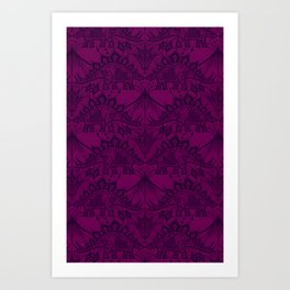Stegosaurus Lace - Purple Art Print
