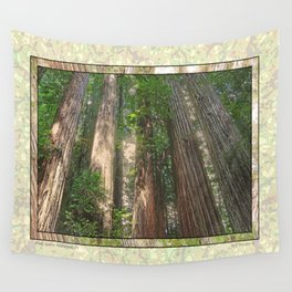 STOUT GROVE REDWOODS 4 LOOKING UP INTO THE TREES Wall Tapestry