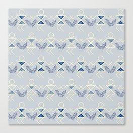 Blues Warli Print Canvas Print