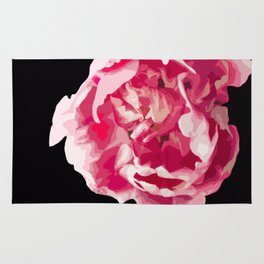 Pink Tulip Flower On A Black Background #decor #society6 #homedecor Rug