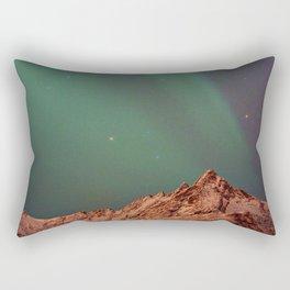 Mountains Landscape: Northern Lights - Aurora Rectangular Pillow
