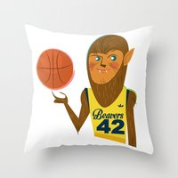 teen wolf Throw Pillows featuring Teen Wolf by breakfastjones