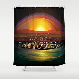 Harbor Square Shower Curtain