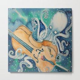 Kraken Plays the Cello Metal Print