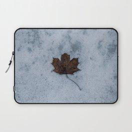 Frozen in Time - Maple Leaf, Austria Laptop Sleeve