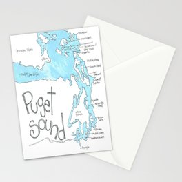 Puget Sound by Seattle Artist Mary Klump Stationery Cards