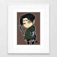 levi Framed Art Prints featuring Levi by eddiesketti