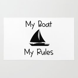 My Boat My Rules Lake and Ocean Travel Rug