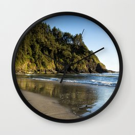 By the Side of the Sea Wall Clock