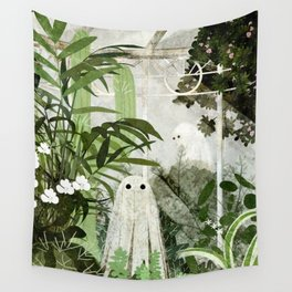 There's A Ghost in the Greenhouse Again Wall Tapestry