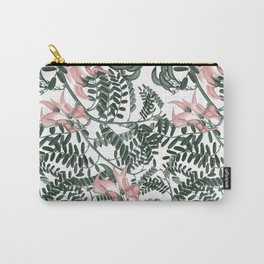 Botanical floral print - Sweet Pea Carry-All Pouch