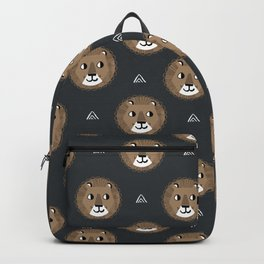 Lion cute pattern nursery kids geometric triangle animal safari Backpack