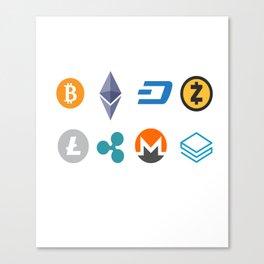 Cryptocurrencies Canvas Print