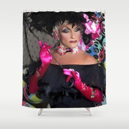 Alan T as Mae West Fx by @OvahFx Shower Curtain