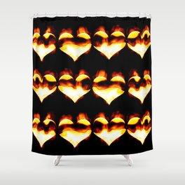 Burning hearts Shower Curtain