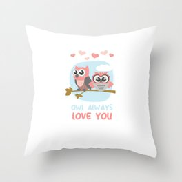 Owl Always Love You Wildlife Nocturnal Animal Night-Owl Lovers Hunters Gift Throw Pillow