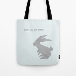 Always On My Mind - Origami Grey Rabbit Tote Bag