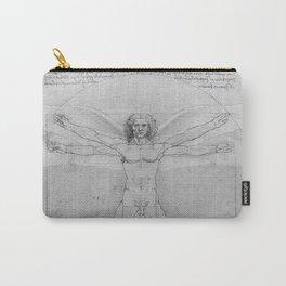 Leonardo da Vinci Vitruvian Man with Wings Study of Angels Carry-All Pouch