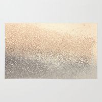 star Area & Throw Rugs featuring  GOLD by Monika Strigel