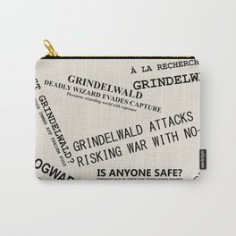 1926 Wizard Newspaper Headlines - Grindelwald Carry-All Pouch