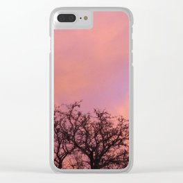 Pink Sky Clear iPhone Case