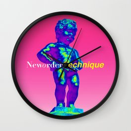 NewOrder Manneken Pis Technique Wall Clock