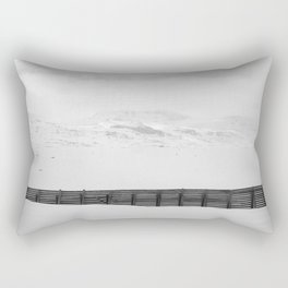 The Fence In The Mountains Rectangular Pillow