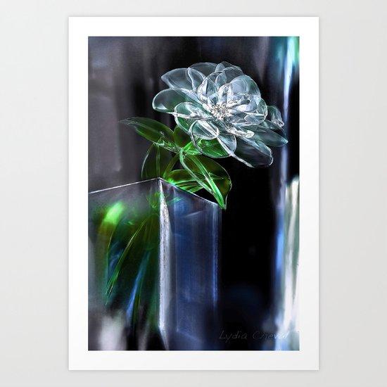 glass flower Art Print