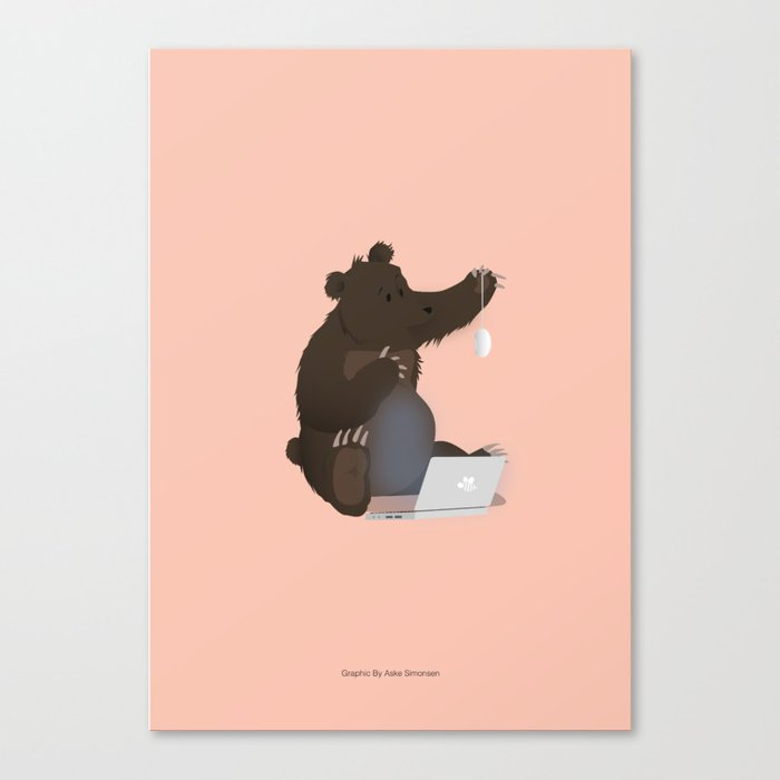 Bear With Me Bro! Poster Canvas Print