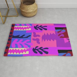 Matisse Inspired Colorful Collage #4 Rug