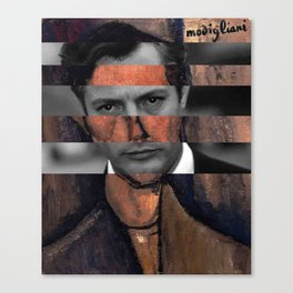 "Modigliani ""Portrait of a Poet"" & Marcello Mastroianni Canvas Print"