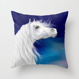 Star Gazer .. fantasy horse Throw Pillow