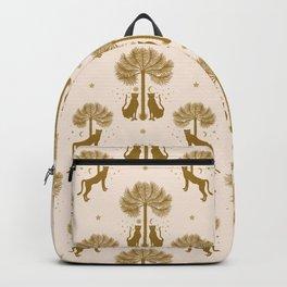 Magical Jungle Dream / Gold and Cream Backpack