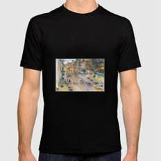 New York City Street View form High Line MEDIUM Black Mens Fitted Tee