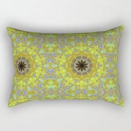 Moth Mandala Pattern Rectangular Pillow