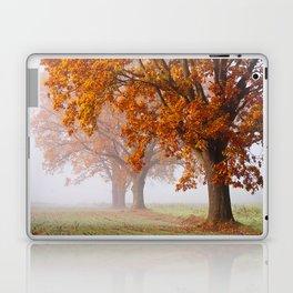 Oaks in the misty Autumn morning (Golden Polish Autumn) Laptop & iPad Skin