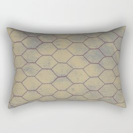 Metallic net with grunge background Rectangular Pillow