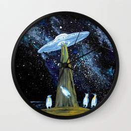 Penguins of Another World Wall Clock