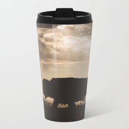Bison in the Storm - Badlands National Park Metal Travel Mug